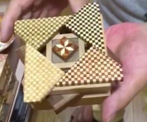 箱根のお土産、寄木細工の秘密箱