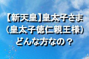 【新天皇】皇太子さま(皇太子徳仁親王様)ってどんな方なの?ご年齢やご経歴、人柄やエピソードまとめ!