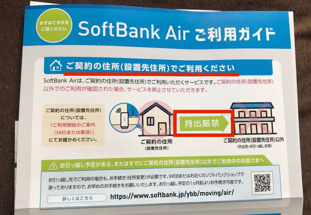 【SoftBank Air】本人確認書類に